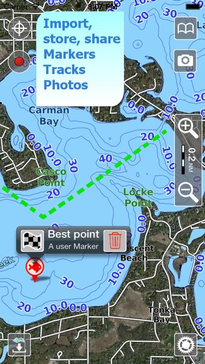 Aqua Map Oklahoma Lakes GPS HD screenshot-3
