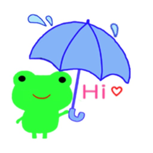 Cute Green Frog Emoji Sticker