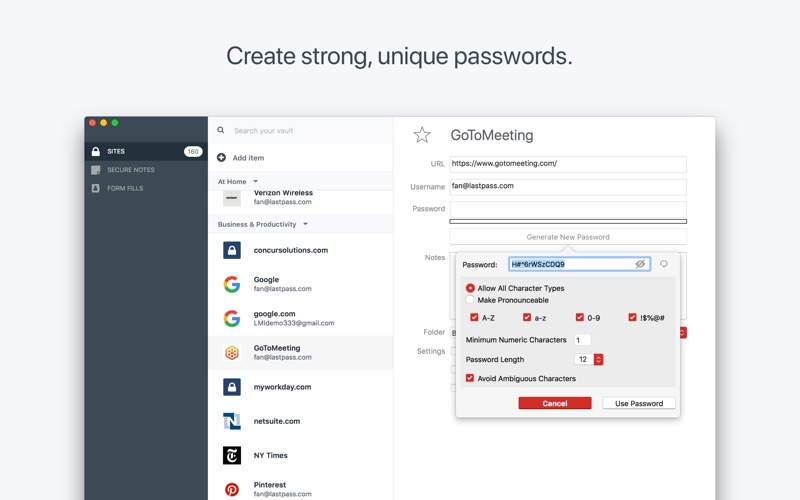 LastPass Screenshot