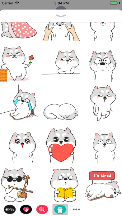 Funny Pug Animated Stickers screenshot two