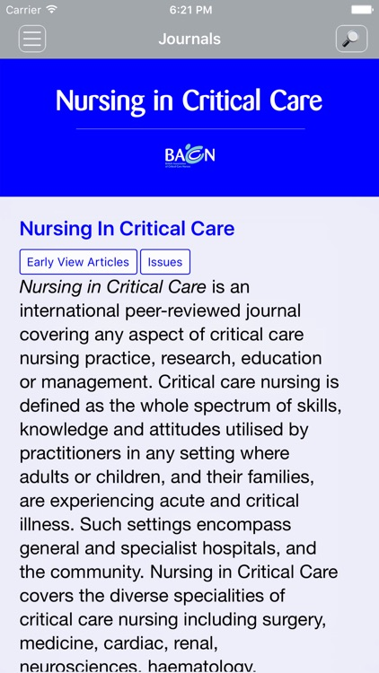 Nursing In Critical Care