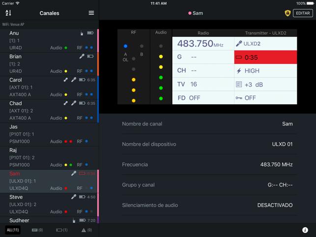 Canales ShurePlus Screenshot