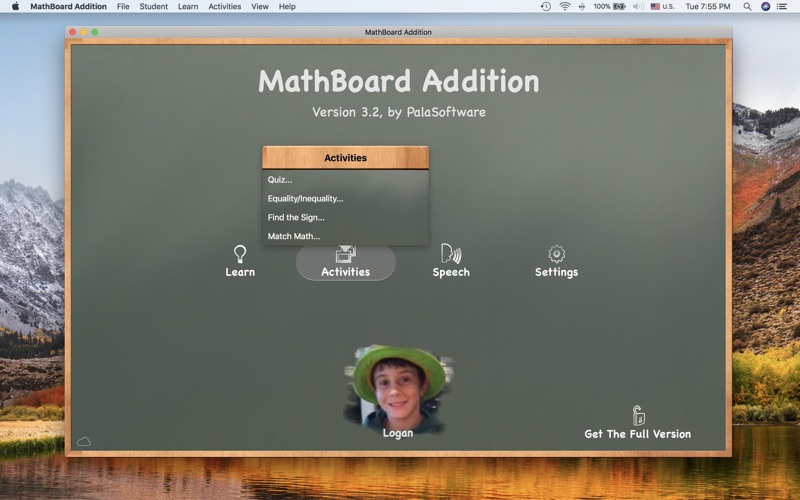 MathBoard Addition Screenshot