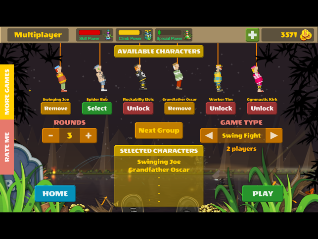 ‎Rope Heroes : Hole Runner Game Screenshot