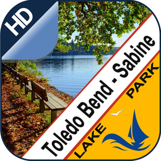 Toledo Bend & Sabine chart for lake & park trails