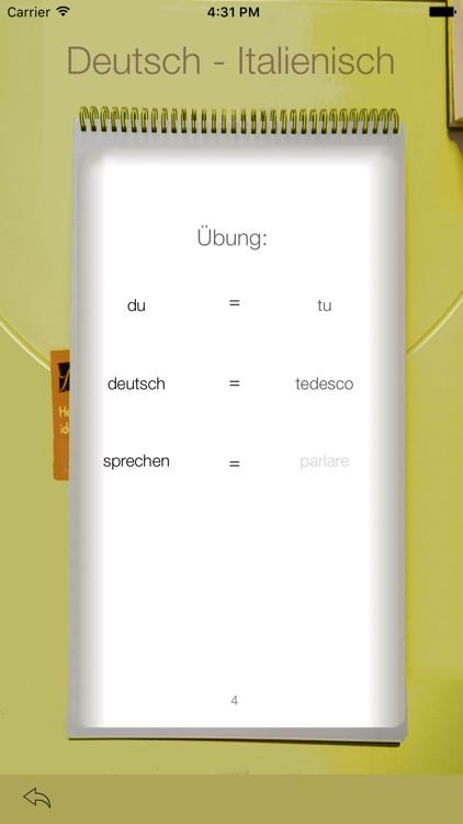 Vocabulary Trainer: German - Italian screenshot-3