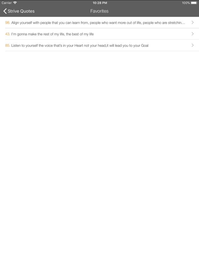 Strive Quotes on the App Store
