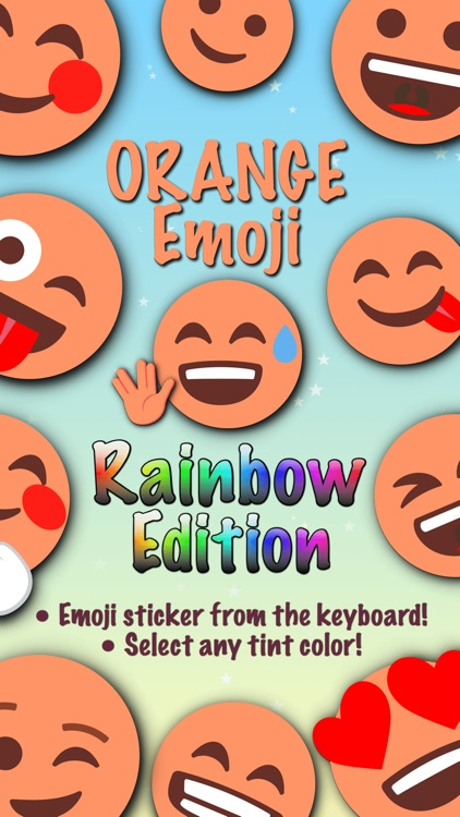 ORANGE Emoji • Stickers