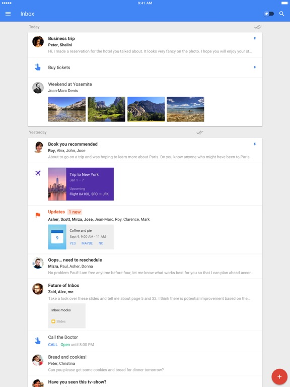 Inbox by Gmail Screenshots