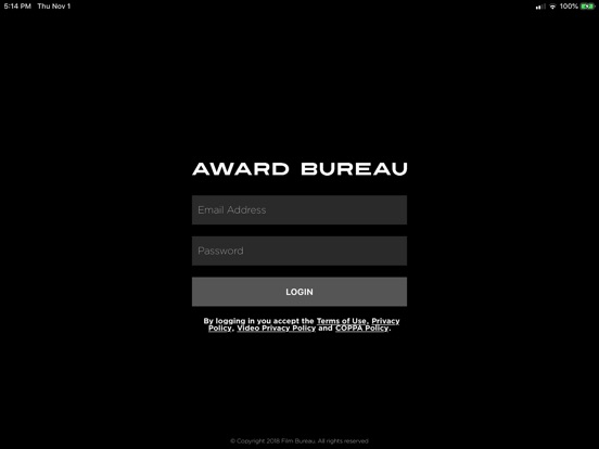 Screenshot #1 for Award Bureau