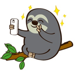 Slow Life Of Cute Sloth Emoji