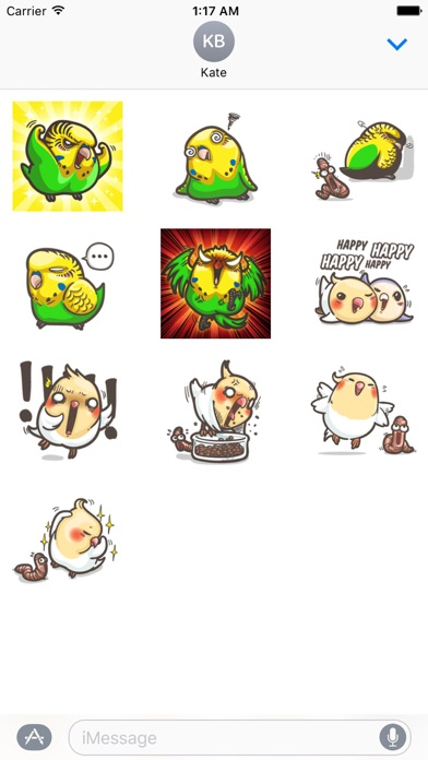Cute Parrot ParrotMoji Sticker screenshot 3
