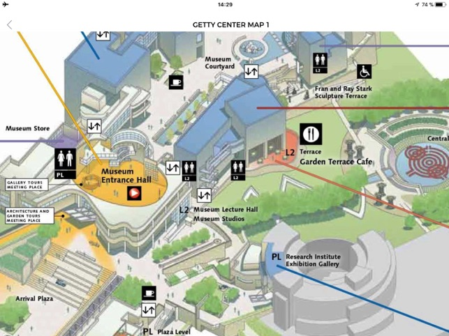 J. Paul Getty Museum on the App Store Getty Museum Map on washington dc museums map, pergamon museum berlin map, american museum natural history map, florida map, science museum london map, getty hours, mexico map, philippines map, venice map, getty tram, halloween map, california map, cabrillo beach map, high museum map, italy map,