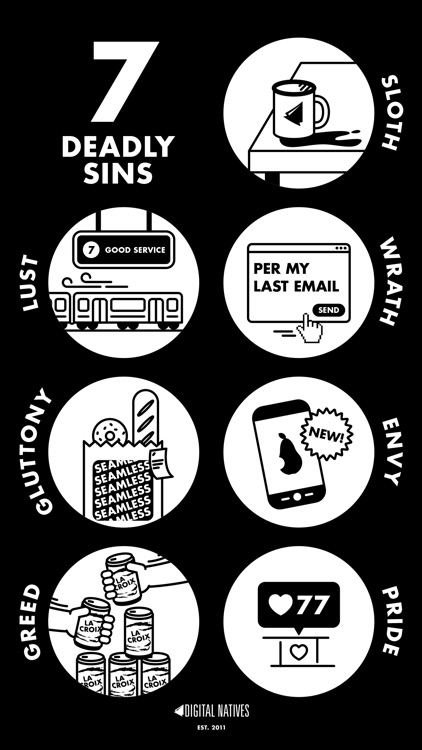 7 Deadly Sins - Stickers