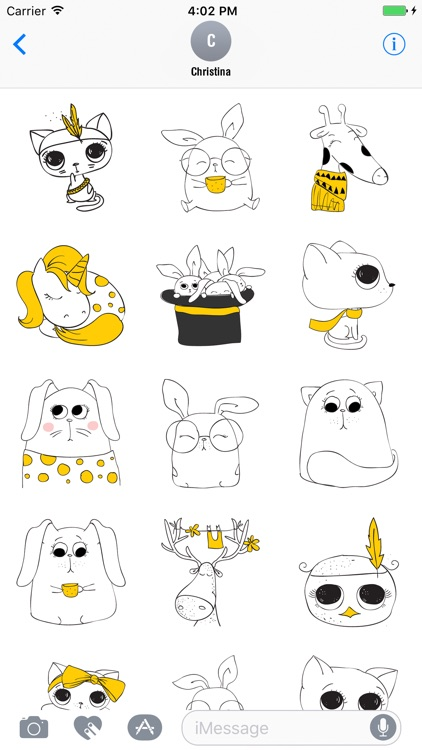 Cute Cat Doodle Stickers
