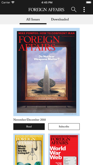 Foreign Affairs on the App Store