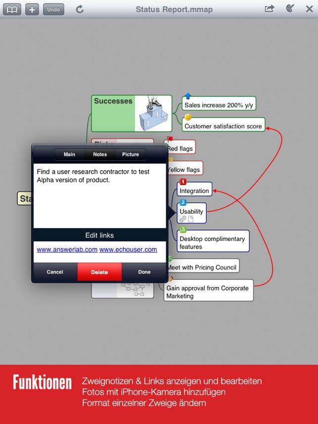 Mindjet for iPad Screenshot