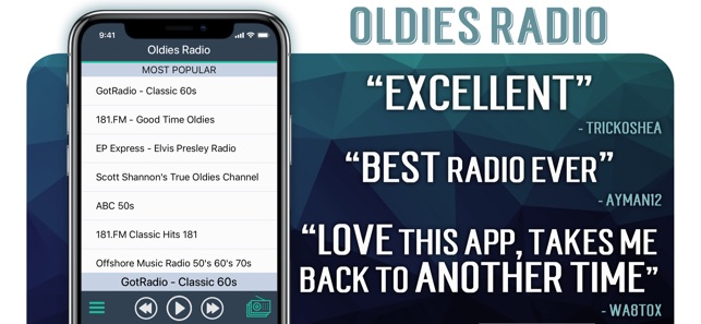 Oldies Radio+ on the App Store