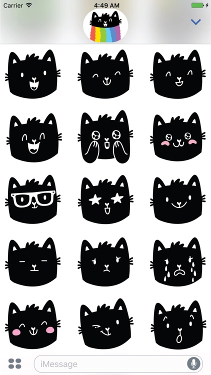 Rainbow cat! Stickers for iMessage screenshot-4