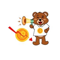 Bitcoin Bear Stickers