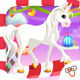 Bouncy Unicorn in Candy Land