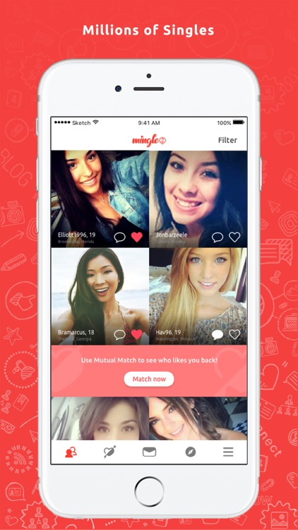 Mingle2 Online Dating Chat App screenshot-0