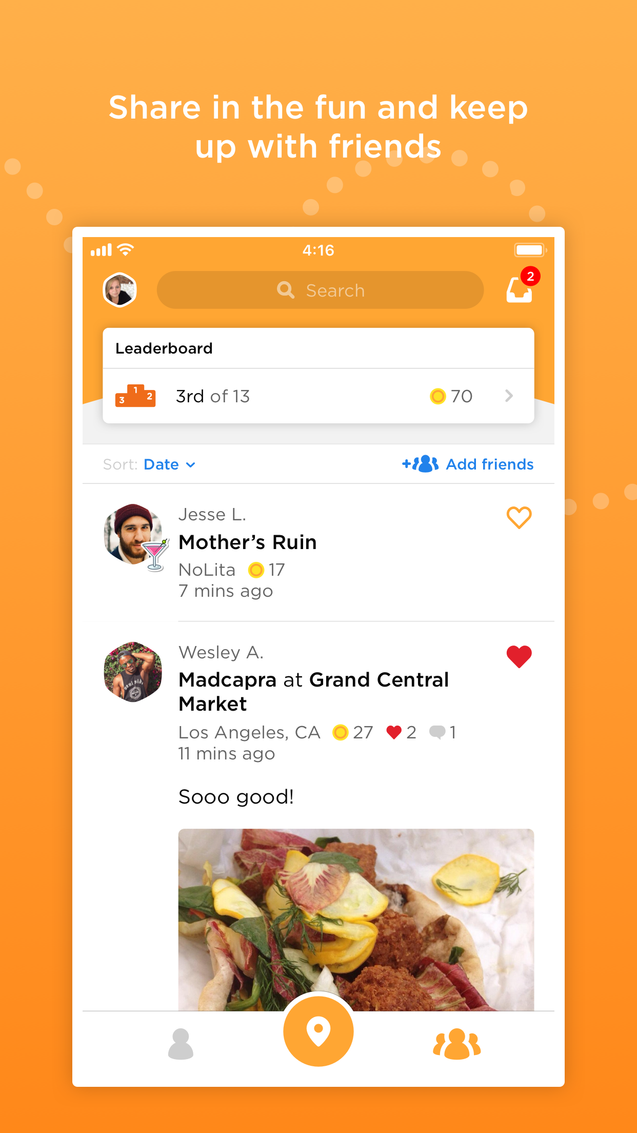 Foursquare Swarm: Check-in App Screenshot
