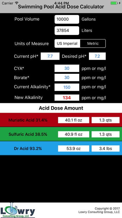 Pool Acid Dose Calc screenshot-3