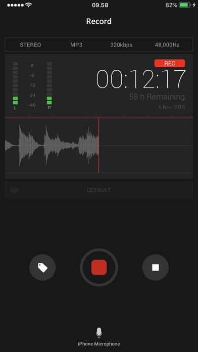 Awesome Voice Recorder X PRO ScreenShot0
