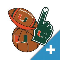 Miami Hurricanes PLUS Selfie Stickers