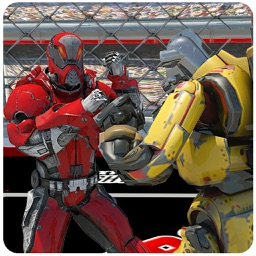 Futuristic Robot Cage Fighting