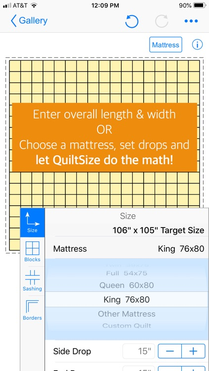 QuiltSize screenshot-1