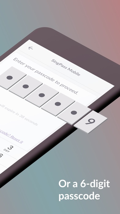 Screenshot for SingPass Mobile in Singapore App Store