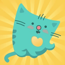 Green Square Cat Stickers