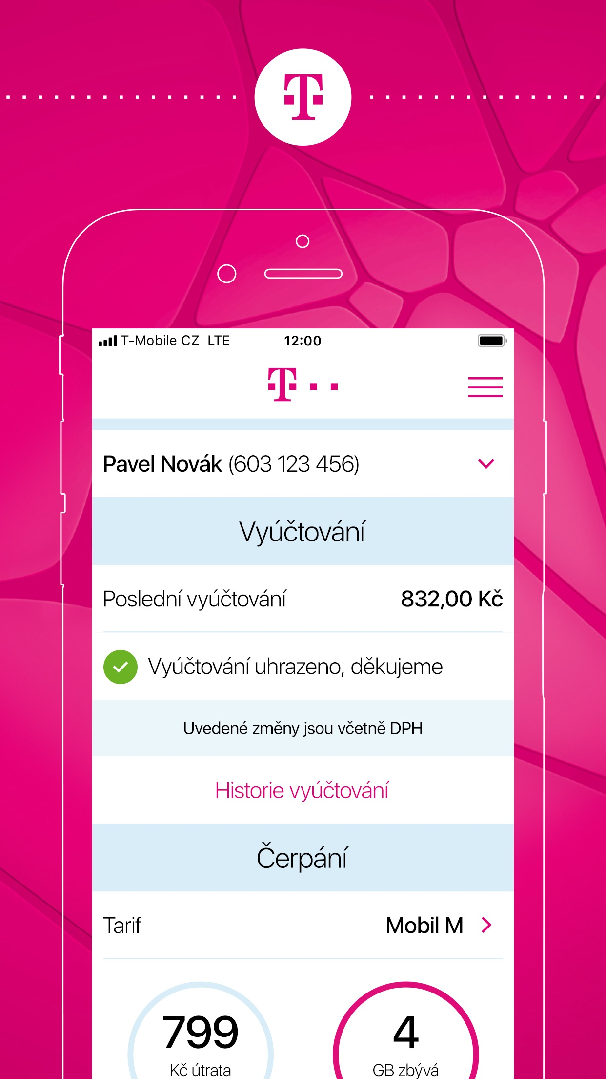 Můj T-Mobile Business Screenshot