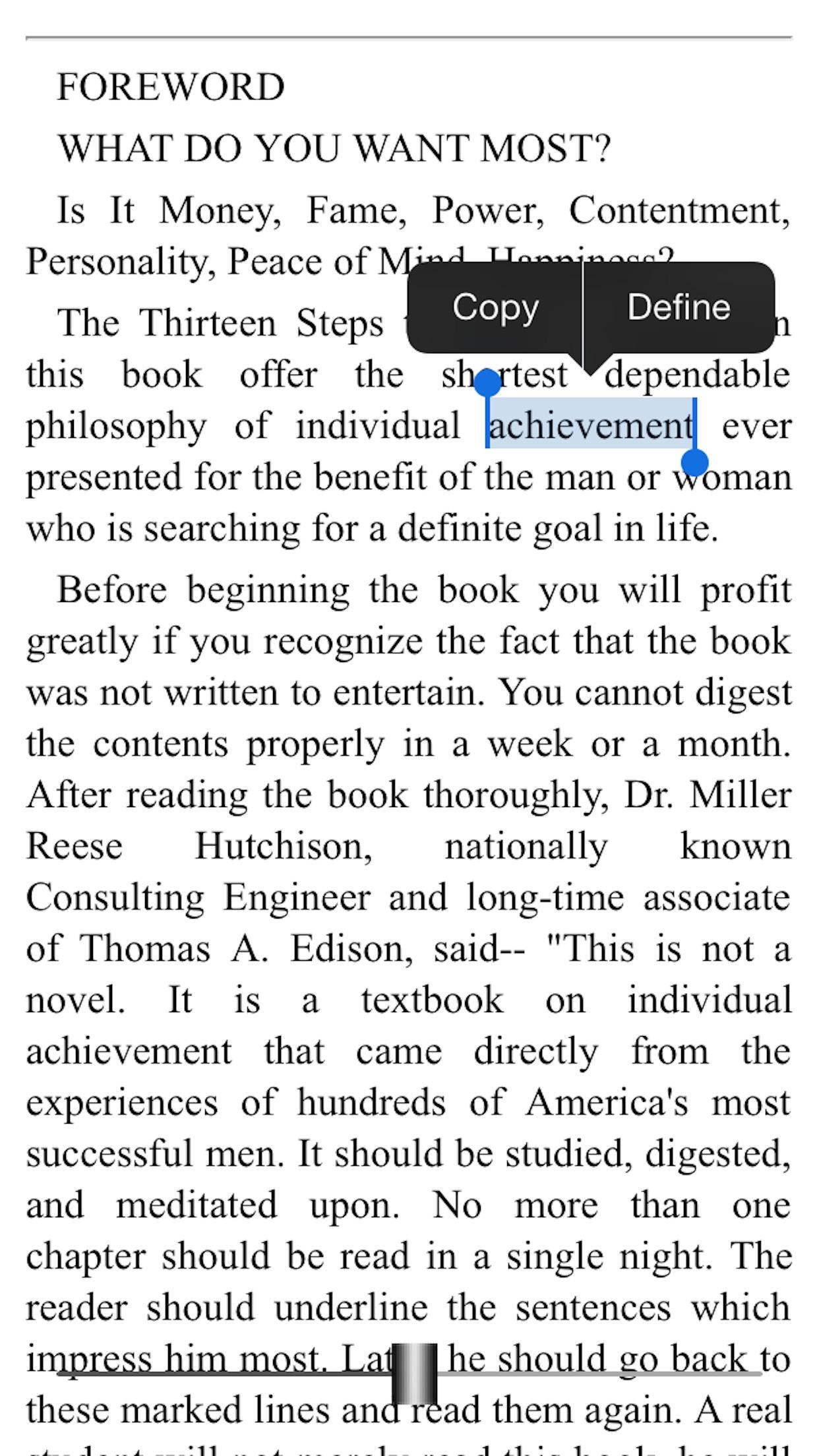 eBook: Think and Grow Rich Screenshot
