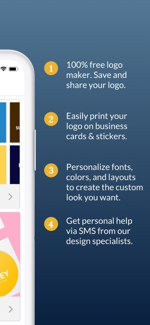 Business card maker logo app on the app store screenshots colourmoves