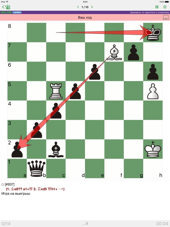Шахматы от простого к сложному на iPad