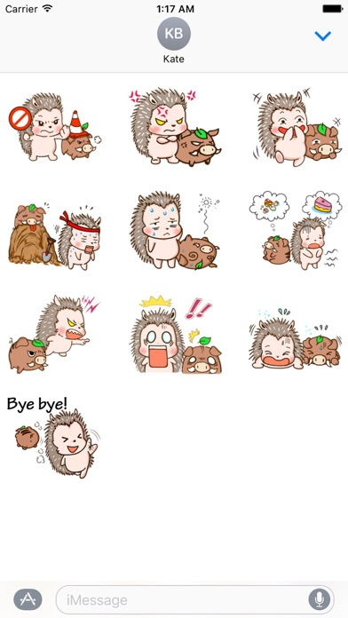 Hedgehog And Wild Hog Sticker screenshot 3