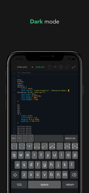 Buffer Editor - Code Editor Screenshot