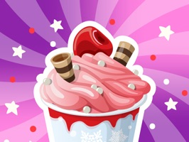 Ice Cream Funny Emoji Sticker