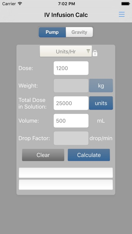 IV Infusion Calculator screenshot-3