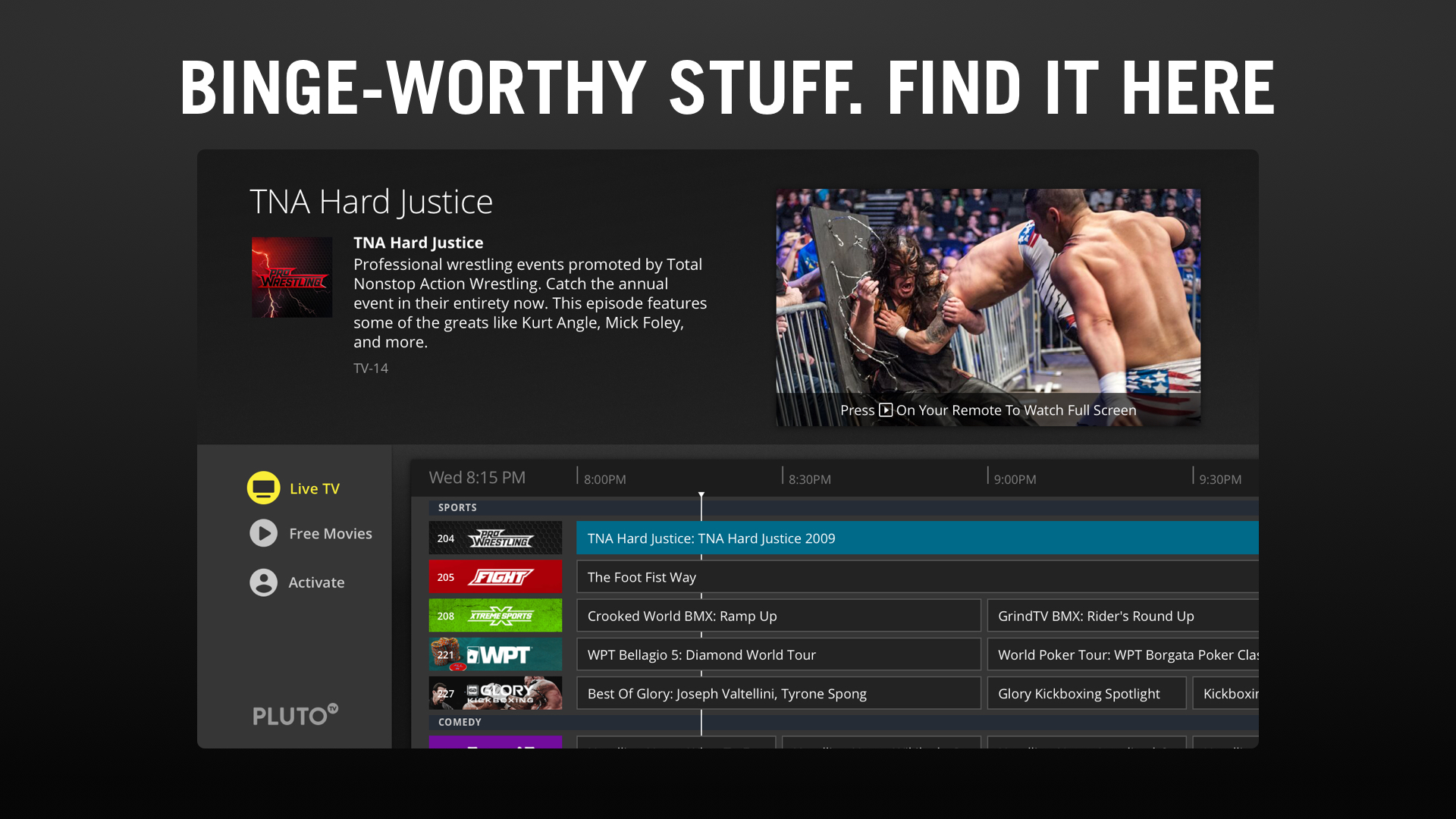 Pluto TV - Live TV and Movies screenshot 15