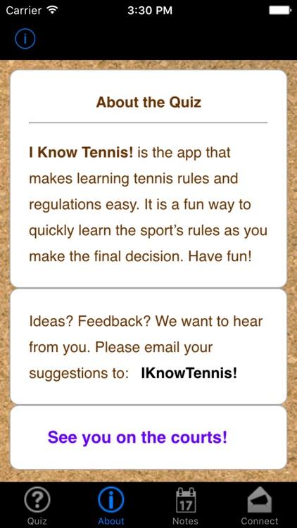 i Know Tennis!