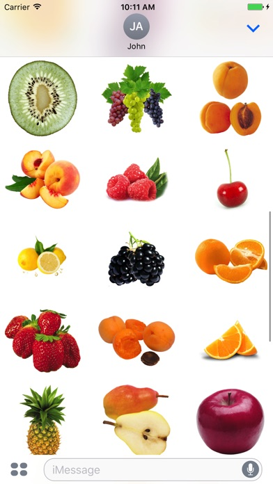 Best Fruits for iMessage screenshot 3