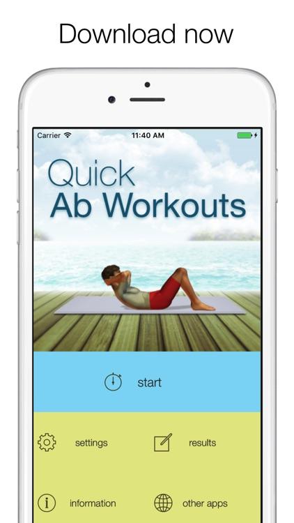 Quick Abs Workout screenshot-4