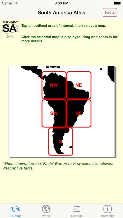 mapQWIK SA - South America Zoomable Atlas
