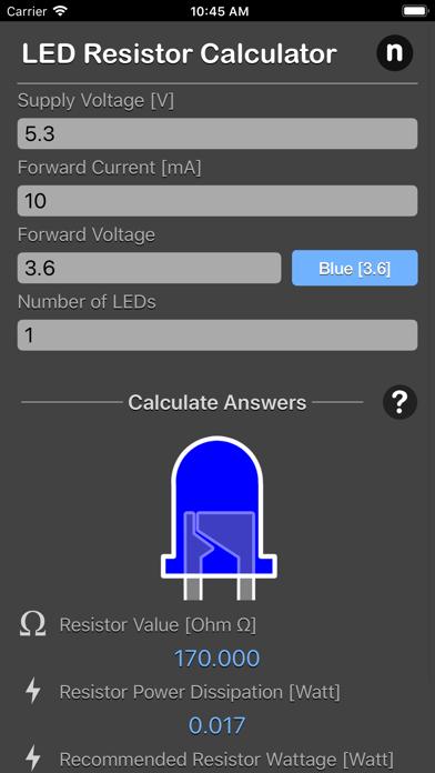LED Resistor Calculator Plus screenshot four