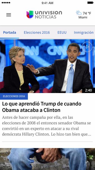 Univision Noticias Screenshot