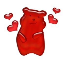 Colorful Gummy Bear Sticker